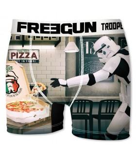 Boxer Homme Freegun Stormtrooper Pizza Blanc