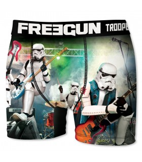 Boxer Homme Freegun Storm Troopers Rock Blanc