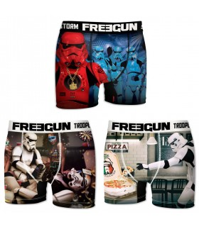 Lot de 3 boxers Homme Freegun Storm Troopers Multicolore