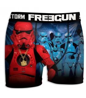 Boxer Garçon Freegun Stormtrooper Club Bleu