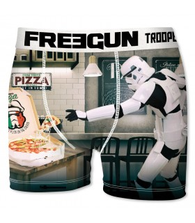 Boxer Garçon Freegun Stormtrooper Pizza Blanc
