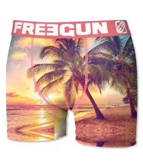 Boxer Homme Freegun Palmier Orange