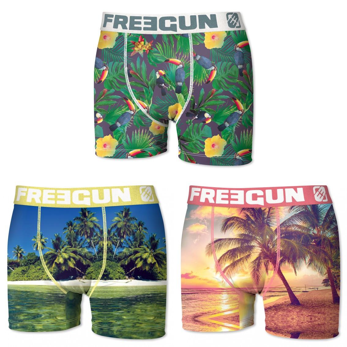 FREEGUN Boys Pants Pack of 3