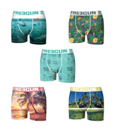 Lot de 5 boxers garçon cap freegun multicolore