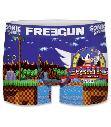 Lot de 4 boxers Homme Freegun Sonic Sega Multicolore