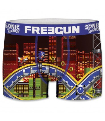 Boxer Garçon Freegun Sonic City Orange