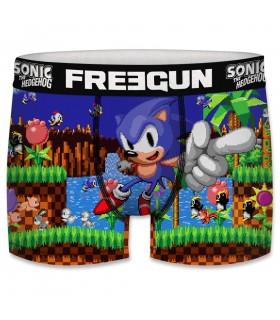Boxer Garçon Freegun Sonic Winner Bleu