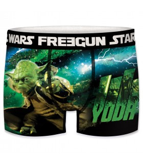 Boxer Homme Freegun Starwars Yoda Vert