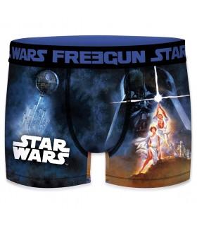 Boxer Garçon Freegun Starwars Laser Bleu