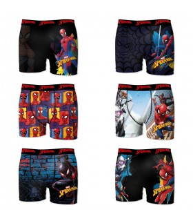 Lot de 6 boxers garçon Freegun Spider-Man Comics Multicolore