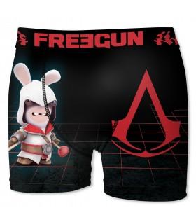 Boxer Garçon Freegun Lapins Crétins Creed Noir