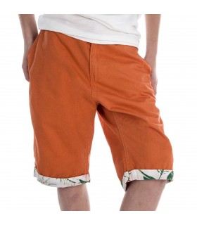 Short bermudas Freegun Orange et Blanc