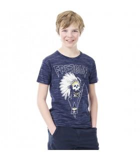 T-shirt Freegun Indien Bleu