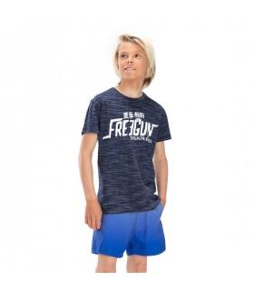 T-shirt Freegun Japan Bleu et Blanc