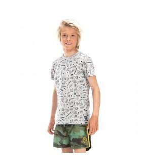 T-shirt Freegun Guitare Gris et Noir