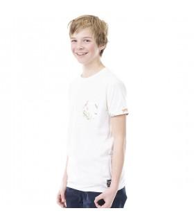 T-shirt Freegun Flower Blanc