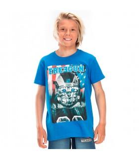 T-shirt Freegun American Bleu et Blanc