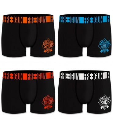 Lot de 4 Boxers homme Shop Noir