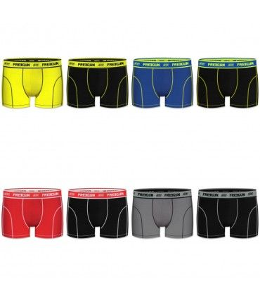 Lot de 8 Boxers Homme Freegun Uni Multicolore