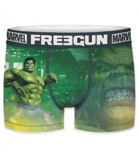 Boxer Homme Freegun Marvel Hulk Vert