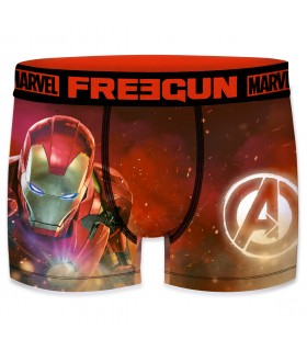 Boxer Homme Freegun Marvel Iron Man Rouge