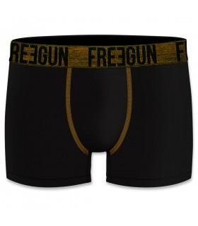 Lot de 4 boxers Homme Freegun Bambou Noir