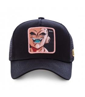 Casquette filet Capslab Dragon Ball Z Mâjin Buu Noir vue de face