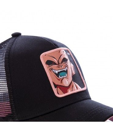 Casquette filet Capslab Dragon Ball Z Mâjin Buu Noir zoom sur le patch
