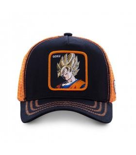 Casquette Capslab Dragon Ball Z Goku Saiyen Noir et Orange