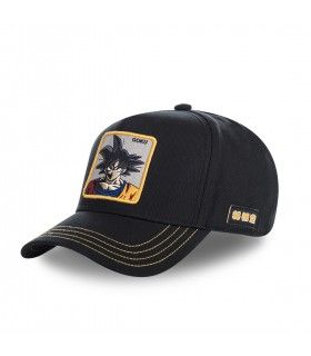 Casquette Capslab Dragon Ball Z Goku Noir Filet Jaune