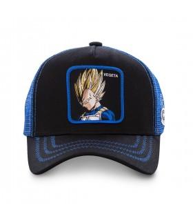 Casquette Capslab Dragon Ball Z Vegeta Saiyen Noir filet Bleu