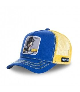 Casquette Capslab Dragon Ball Z Vegeta Bleu filet Jaune