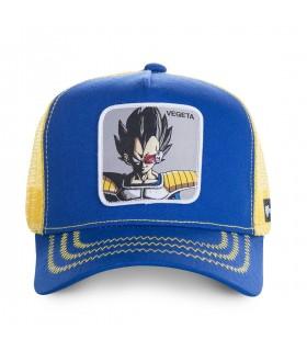 Casquette Capslab Dragon Ball Z Vegeta Bleu filet Jaune