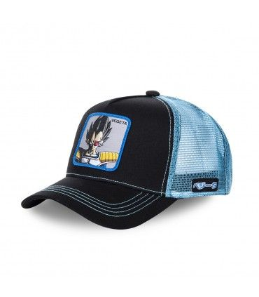 Casquette Capslab Dragon Ball Z Vegeta Noir filet Bleu