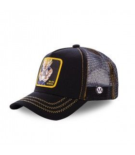 Casquette filet Capslab Dragon Ball Z Mâjin Vegeta Noir