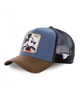 Casquette Capslab Disney Mickey Bleu et Marron