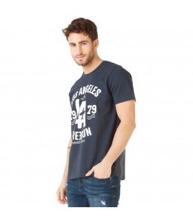 T-shirt Homme Freegun Los Angeles bleu