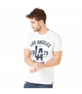 T-shirt Homme Freegun Los Angeles Blanc