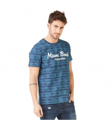T-shirt Homme Freegun Miami Bleu
