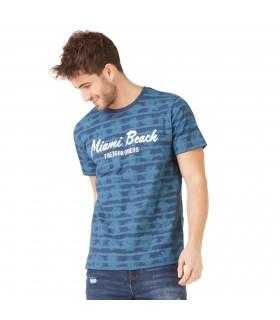 T-shirt Homme Freegun Miami Bleu