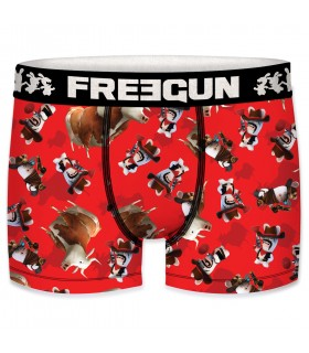 Men's Raving Rabbids Cow Boy Red Boxer