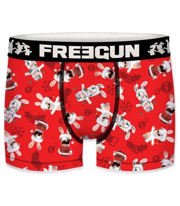 Men's Raving Rabbids Christmas Red Boxer