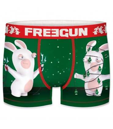 Men's Raving Rabbids Christmas Tree Boxer