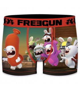 Men's Raving Rabbids Crazy Red Boxer