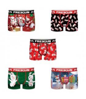 Lot de 5 Boxers Homme Lapins Crétins Christmas Multicolore
