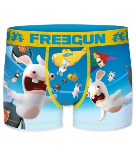 Boy's Raving Rabbids Sky Blue Boxer