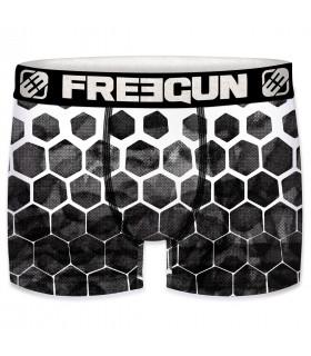 Boxer homme Freegun Hexagone Noir