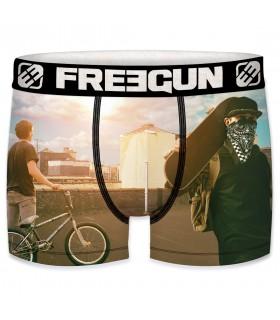 Boxer Homme Freegun Free Ride Gris