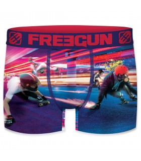 Boxer Homme Freegun Slide Rouge