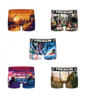 Lot de 5 boxers homme Freegun Undergroud Multicolore